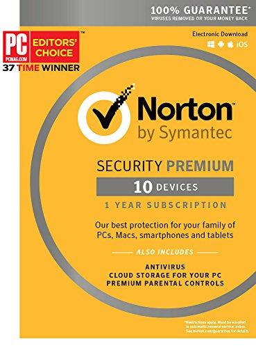 Norton Security Premium - 10 Devices [Key Card] (Norton Virus Software compare prices)