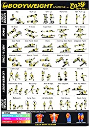 Eazy How To Bodyweight Exercise Workout Poster Big 51 x 73cm Train Endurance, Tone, Build Strength & Muscl