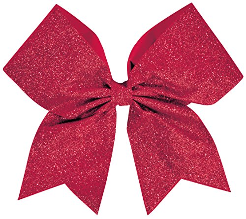 [Glitter Performance Hair Bow Glitter Red] (Red Glitter Hair Bows)