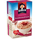 Quaker Strawberry & Cream Instant Oatmeal 10-1.23 Oz. Packets (Pack of 24)