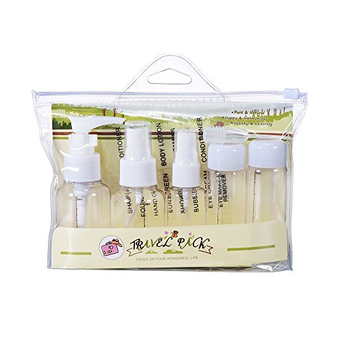 ransparent Points Bottling Makeup Cosmetic Portable Vial Lotion Empty Bottle Cream Bottle (5PCS Pearl White) (Pearl 3 Oz Spray Can)