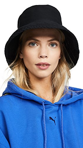 Hat Attack Women's Washed Cotton Bucket Hat, Black, One Size