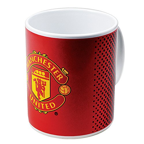 Manchester United FC Official Fade Ceramic Football/Soccer Crest Mug (One Size) (Red/White)