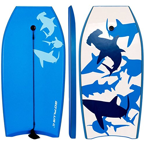 Goplus 41 inch Super Bodyboard Body Board EPS Core, IXPE Deck, HDPE Slick Bottom with...
