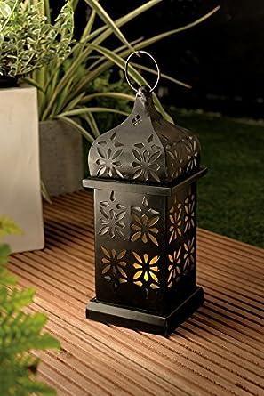 Xl Led Solar Leuchte Garten Solar Laterne Metall Pulverbeschichtet