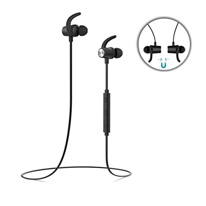 dodocool Bluetooth Headphones Magnetic In-ear Earbuds Wireless 4.1 Earphones Stereo Sports Headset with APT