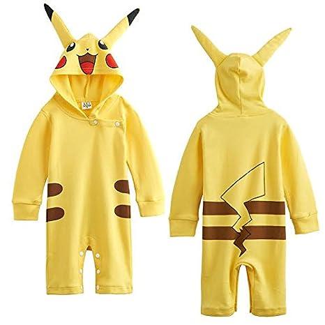 Pikachu Pokemon juego de bebé Pelele de Boy parte disfraz/disfraz/disfraz de reproducción amarillo Talla:18-24 meses: Amazon.es: Bebé