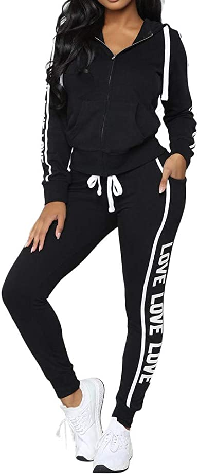 Fashion New Women/'s Long Sleeves Buttons Skinny Stripe Print Casual Pants Set