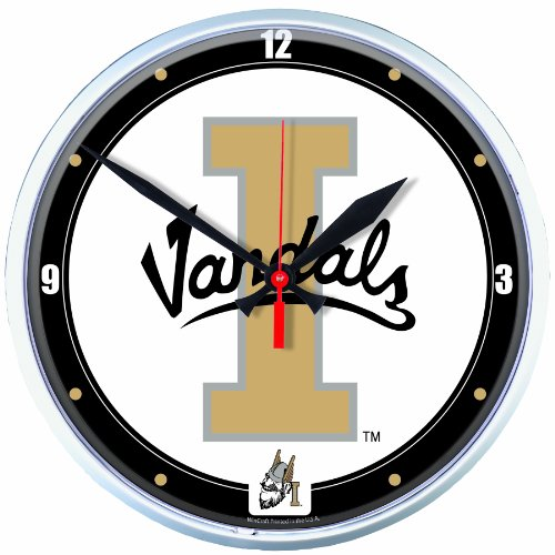 NCAA Idaho Vandals Round Clock