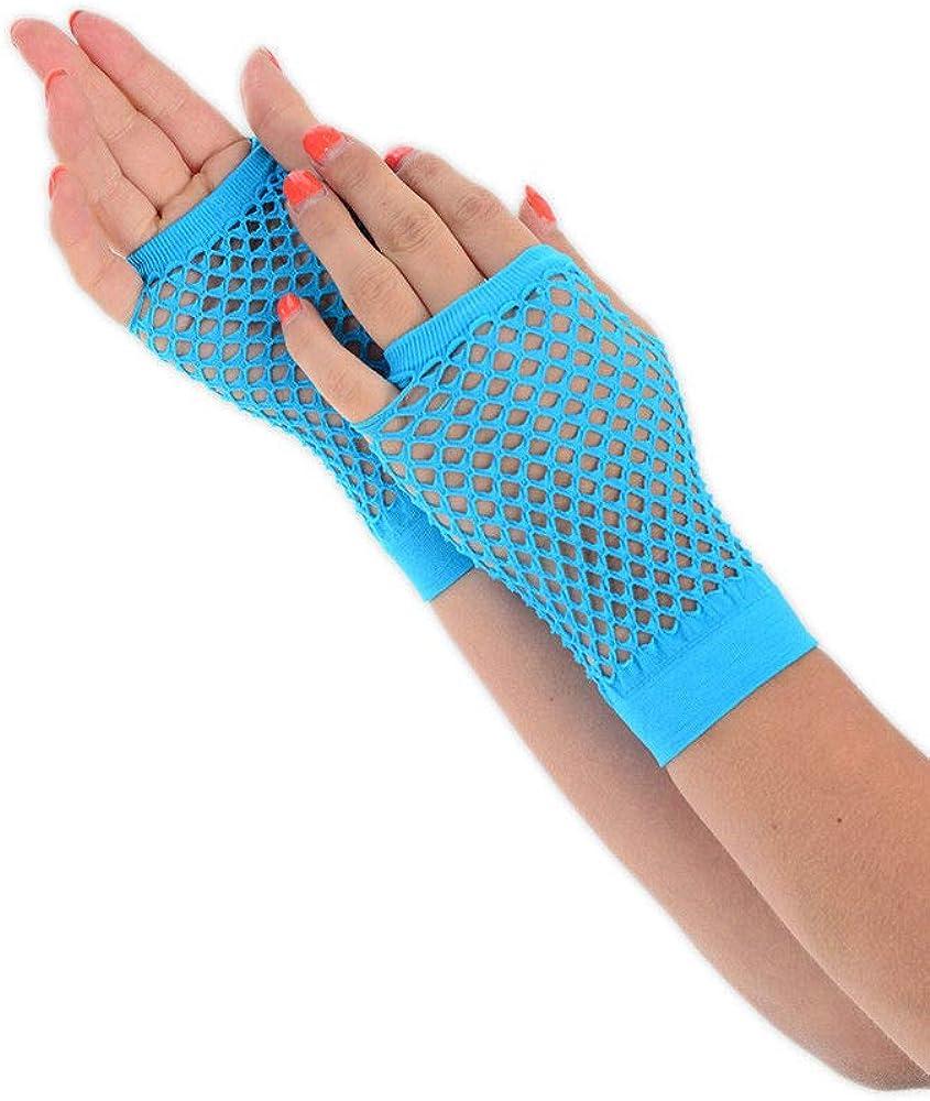 Orange *** 1980/'s Neon Lace Gloves
