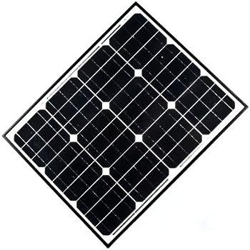 ALEKO® 50W 50-Watt Monocrystalline Solar Panel