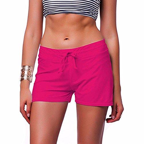 KIWI RATA Womens Swimwear Sexy Sweet Heart Brazilian Bikini Bottom Hipster Swimsuit Beachwear Swimwear Neon Pink