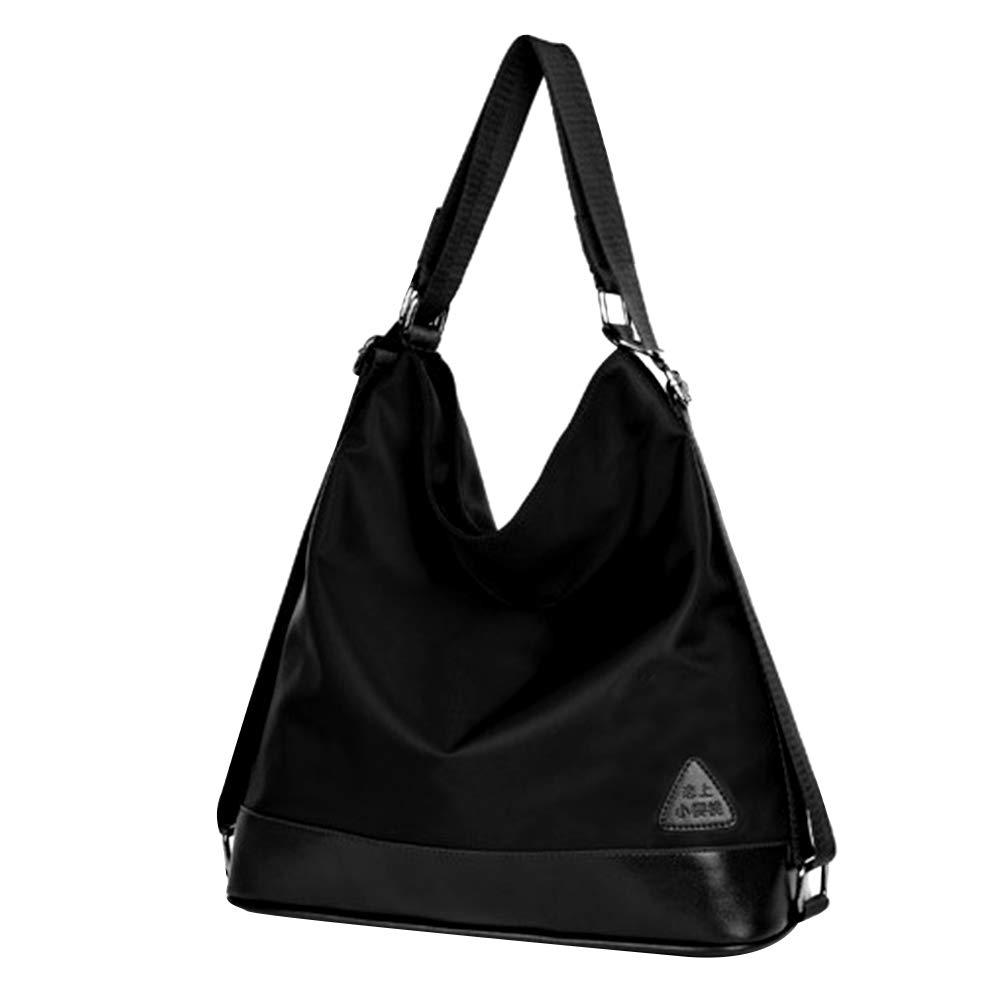 e34ff9cdd315 Amazon.com  Mily Womens Nylon Waterproof Shoulder Bag Backpack Hand Bag  Cross Body Bag Good for Travel Black  Millysa