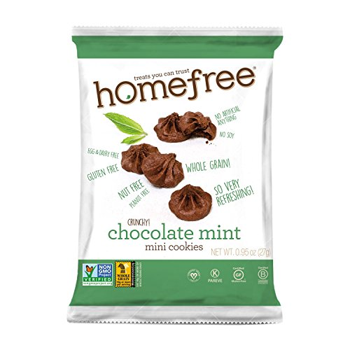 Homefree Treats You Can Trust GF Mini Cookie Bag, Chocolate Mint, 0.95 Ounce (Pack of 10)