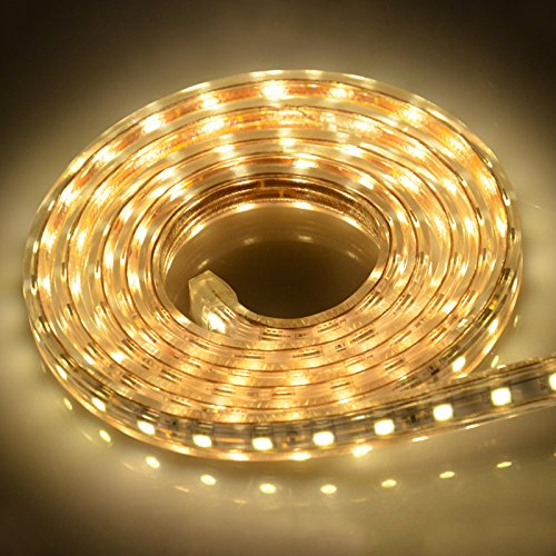 Idealeben LED Streifen Lichtband 5050 LED Strip Leiste, 2M ,Warmweiß, IP65 [Energieklasse A+]