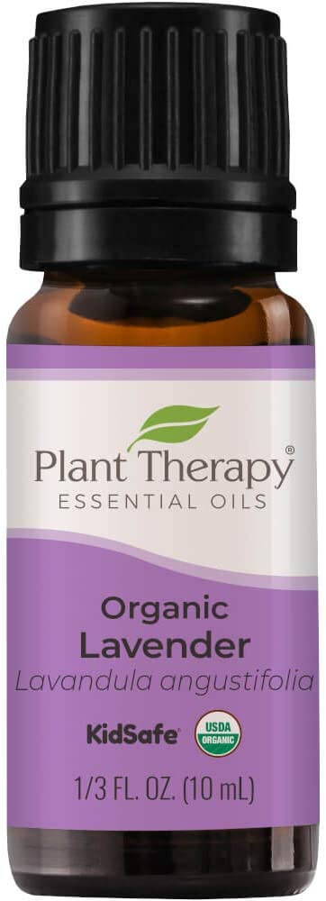 Plant Therapy Organic Lavender Essential Oil 100% Pure, USDA Certified Organic, Undiluted, Natural Aromatherapy, Therapeutic Grade 10 mL (1/3 oz)