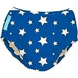 Charlie Banana Extraordinary Swim Diaper - White Stars on Blue - Large