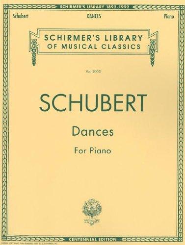 Dances for Piano Schirmer Library of Classics Volume 2003 Piano Solo (Schirmers Library of Musical Classics) (Tapa Blanda)