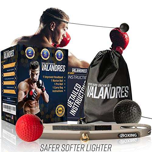 VALANDRES Boxing Reflex Ball Complete Bundle - Premium Reflex Ball Boxing Equipment for Hand-Eye Coordination ()
