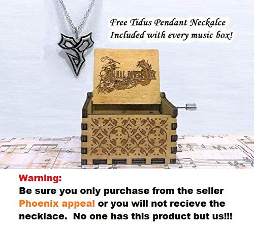 PHOENIX VITAL LIFE Sale Hand Cranked Carved Wooden Music Box: Various Themes Available (Final Fantasy X: to Zanarkland Theme, Wood)