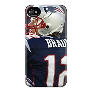 Ideal BJBcke Case Cover For Iphone 4/4s(tom Brady Throwing Motion), Protective Stylish Case