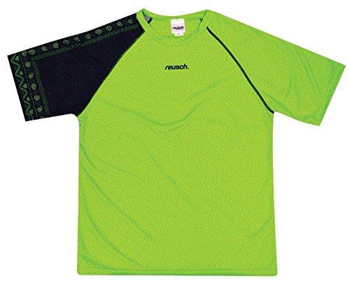 Reusch Soccer Aztec Short Sleeve Goalkeeper Jersey, Lime Green/Black, Adult X-Large