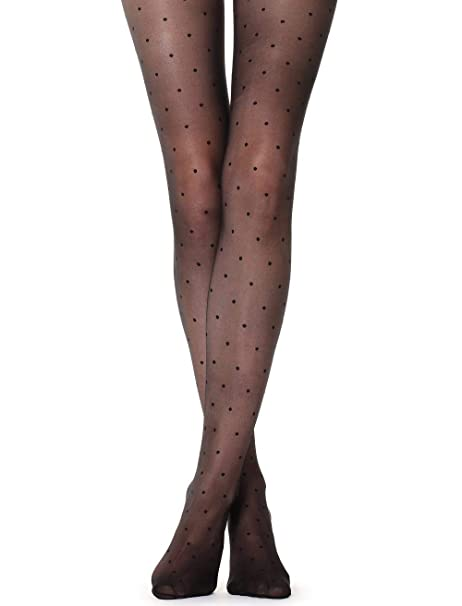 7d5e16756 Calzedonia Womens Sheer polka dot tights  Amazon.co.uk  Clothing