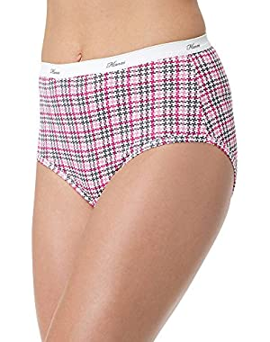 Hanes P540AD Womens Plus Cotton Brief Size - 12 - Assorted