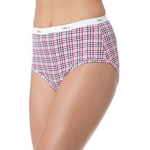 Hanes P540Ad Womens Plus Cotton Brief Size 12 Assorted