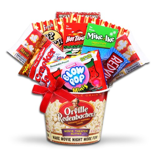Its Movie Night Christmas Theme Movie Snacks Gift Basket Buy