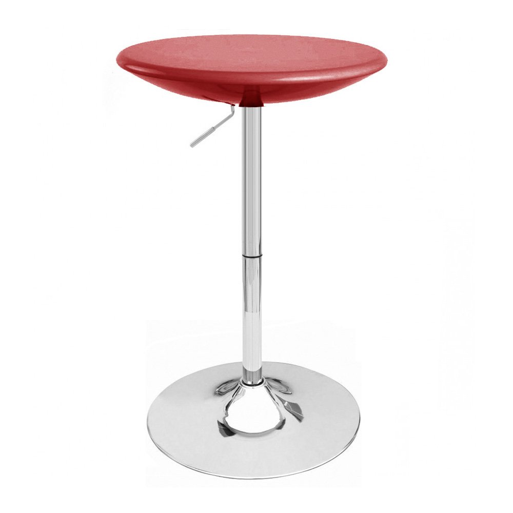 Alpha Contemporary Adjustable Bar Table - Cabernet Red