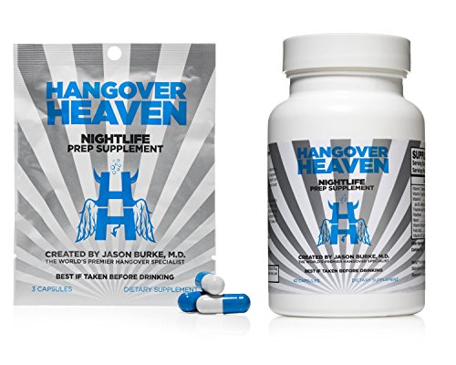 Hangover Heaven Nightlife Prep Supplement - Physician Formulated with Ultra Premium Ingredients (Bottle + 1 Packet)