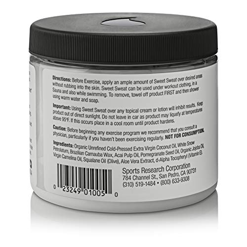 Large Product Image of Sweet Sweat Coconut 'XL' Jar (13.5oz) | Helps increase Circulation, Motivation & Sweat during exercise | Manufactured in the USA