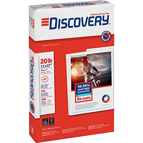 Discovery 00042 Multipurpose Paper, 11-Inch x17-Inch, 20 Lb, 97 GE, 2500Sht/CT, WE