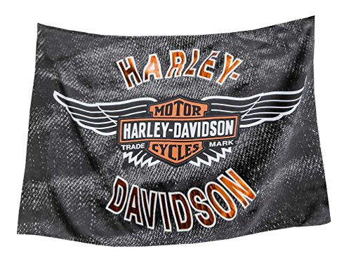 Harley-Davidson Vintage Bar & Shield Wings Estate Flag, Double Sided (Sign Pole Decorative Bases)