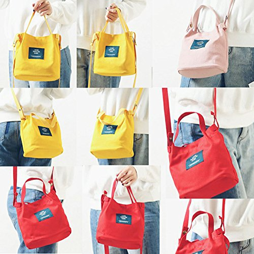 1pc 12 Noir Female Simple cm 20 Canvas Pouch Bag 19 Shoulder Doitsa x Shoulder Canvas x College One Korean Style d1Fdwa