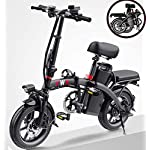 51ridg55soL. SS150 JXH Folding Mountain Bike per Freni a Disco Doppio per Adulti 36V 8AH Montagna Bicicletta elettrica e, con Display LED…