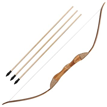 Irq Archery Wooden Bow And Arrow Set Hunting Bow With 3 Arrows And