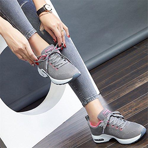 Running Scarpe Casual Uomo Traspirante Sneakers Donna MIMIYAYA Ginnastica EU Leggero 44 Sportive Fitness Air Interior 34 e Corsa Grigio Basse all'Aperto da gOxgf8qw