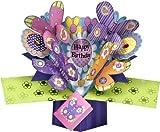 THE ORIGINAL POP UPS - 003 - FLOWERS & BUTTERFLIES BIRTHDAY CARD