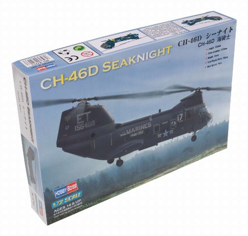 Hobby Boss American CH-46 Sea Knight Airplane Model Building Kit