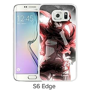 Fashion Designed Shingeki no Kyojin 35 White Samsung Galaxy S6 Edge Phone Case