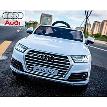 Audi Q7 Quattro Nuevo, Macchina Elettrica Bambini, Bianco
