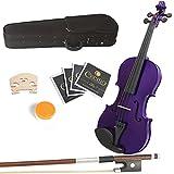 Mendini 14-Inch MA-Purple Solid Wood Viola with
