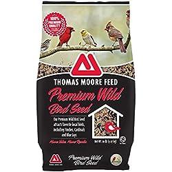 TMF 100% Premium Quality Wild Bird Seed , 20 lb
