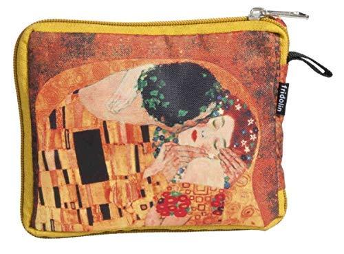 Fridolin 40516 Klimt Le Baiser Sac /à Provisions Pliable Nylon Multicolore 16 x 13 x 4 cm