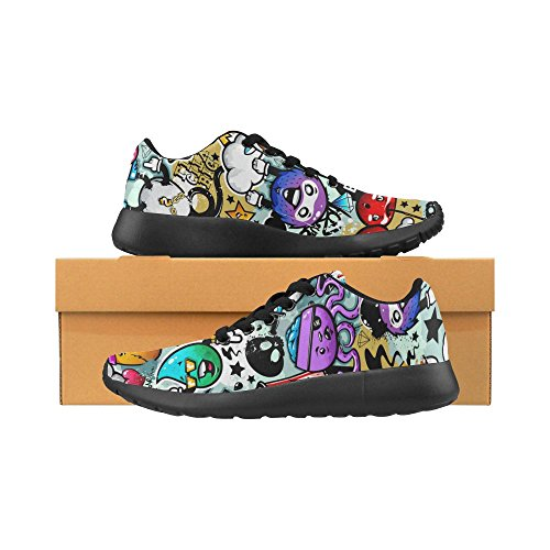 para Lona Color Zenzzle 15 negro Zapatillas running mujer Negro de de ZwXxCw