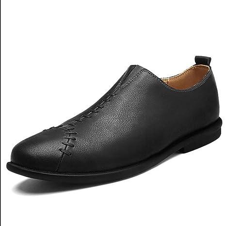 YAN Zapatos de Hombre Zapatos de Conducción de Cuero Zapatos Casuales Inteligentes Zapatos de Hombre Mocasines