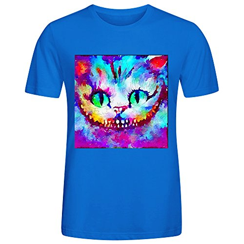 fan products of Cheshire Cat Jl9 T Shirts For Men Blue Cotton