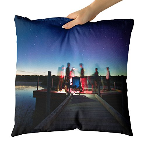 Westlake Art - Light Night - Decorative Throw Pillow Cushion - Picture Photography Artwork Home Decor Living Room - 20x20 Inch (Bench Galaxy Therapy)